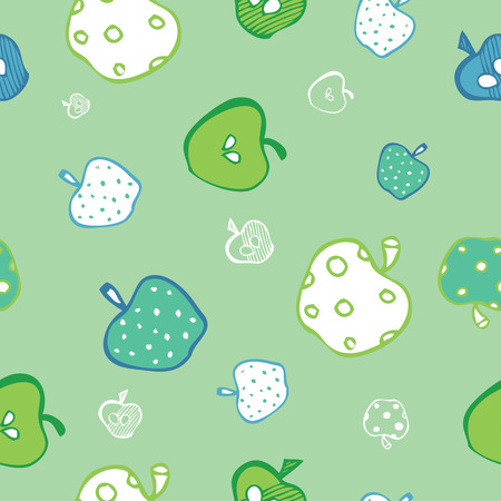 green apples: Seamless green apples pattern