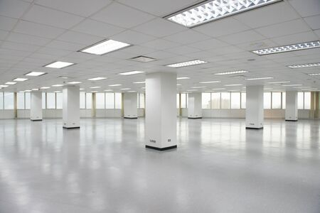 Empty office floor
