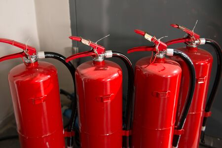 fire extinguisher: Four units of fire extinguisher