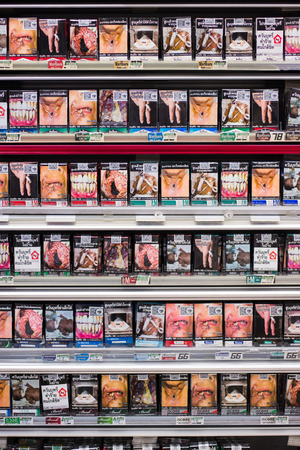 convenient store: Cigarette packs with warning graphic of tobaccorelated harms Editorial