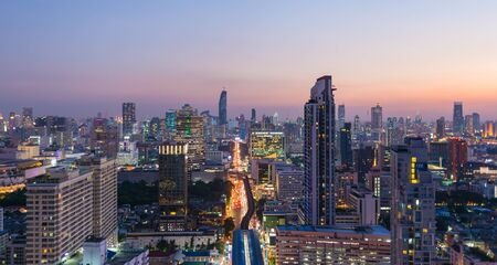 RATCHATHEWI, BANGKOK - OCTOBER 30, 2015: Cityscape around Ratchathewi district, Bangkok.