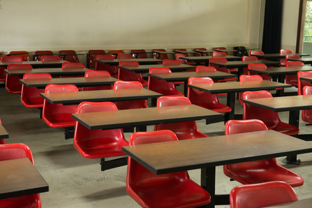 empty classroom: Empty classroom fill with red lecture seats