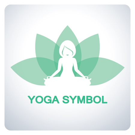 flexible sexy: Yoga symbol. Icon symbol design. Vector illustration. Illustration