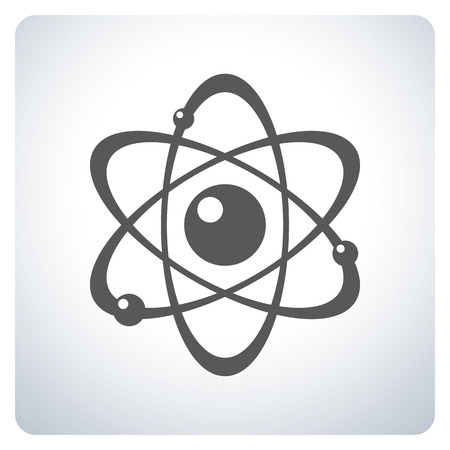 Atom. Icon symbol design. Vector illustration.