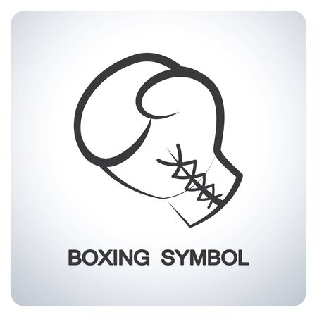 guantes de box: Guante de boxeo. Diseño del símbolo del icono. Ilustración del vector.