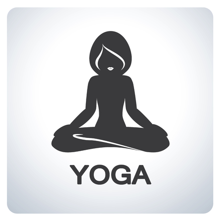 flexible sexy: Yoga pose symbol. Icon symbol design. Vector illustration.