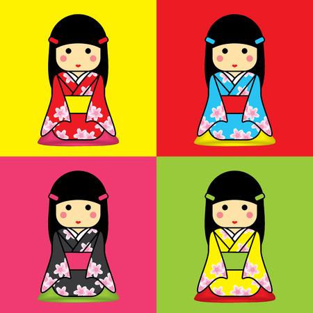 Japanese girl wearing a yukata.