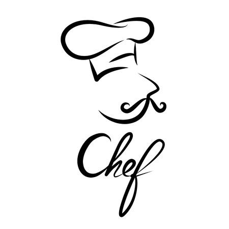 kapelusze: Ikona Chef. Konstrukcja ikonę symbolu. ilustracji wektorowych.