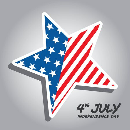 4 star: Star vector for 4 July American Independence Day. Icon symbol design. Vector illustration. Illustration