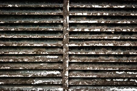 Dirty ventilation shaft taken with isolated front view, can be use for background and environmental concepts  photo