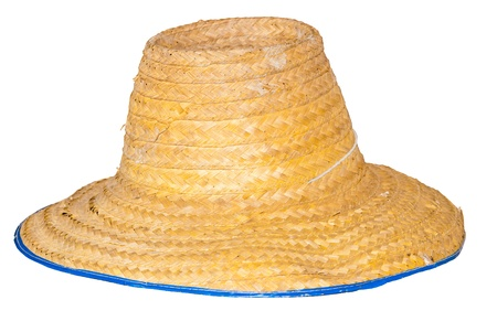 Farmers hat on isolated white background  Stock Photo