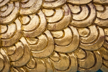 Golden dragon scale background texture  photo