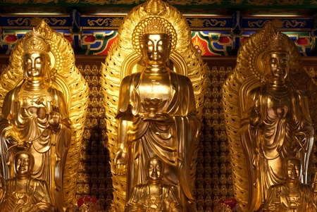 Chinese god golden statue from Chinese temple, can be use for various chinese god related concepts.
