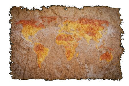 Old vintage map on burned paper background, can be use for various vintage concepts and world business concepts. Editorial