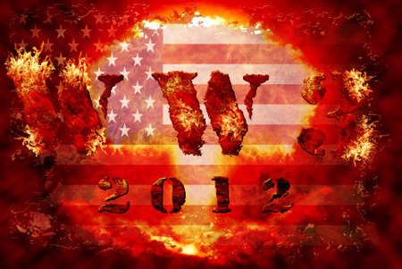 World war 3 nuclear background, a sensitive world issue, useful for various icon, banner, background, global economy conceptual design. Stock Photo - 12649420