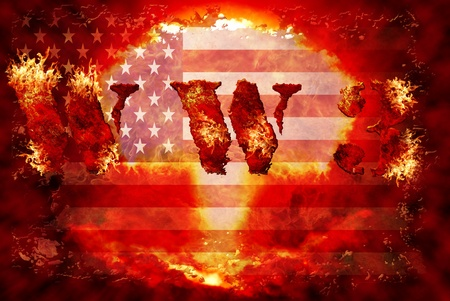 World war 3 nuclear background, a sensitive world issue, useful for various icon, banner, background, global economy conceptual design. Stock Photo - 12649253