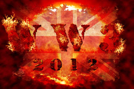 World war 3 nuclear background, a sensitive world issue, useful for various icon, banner, background, global economy conceptual design. photo