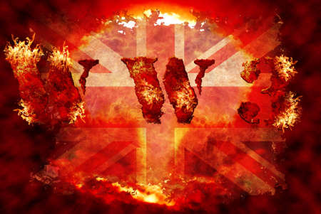 World war 3 nuclear background, a sensitive world issue, useful for various icon, banner, background, global economy conceptual design. Stock Photo - 12649433