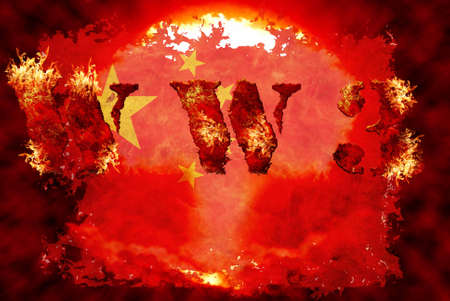 World war 3 nuclear background, a sensitive world issue, useful for various icon, banner, background, global economy conceptual design. Stock Photo - 12649146