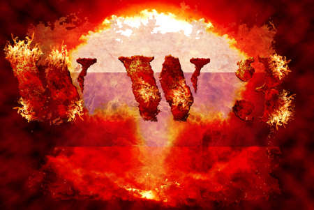 World war 3 nuclear background, a sensitive world issue, useful for various icon, banner, background, global economy conceptual design. Stock Photo - 12649235