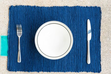 General dinner and lunch set with fork and knife, can be use for food related concepts and background Stock Photo