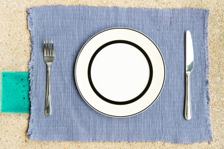 General dinner and lunch set with fork and knife, can be use for food related concepts and background photo