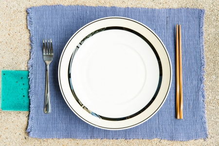 General dinner and lunch set with chop stick, can be use for vaus foods related concept design and background. Stock Photo - 16288943