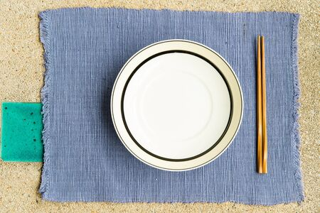 General dinner and lunch set with chop stick, can be use for various foods related concept design and background. Stock Photo - 16289185