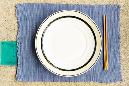 General dinner and lunch set with chop stick, can be use for various foods related concept design and background.