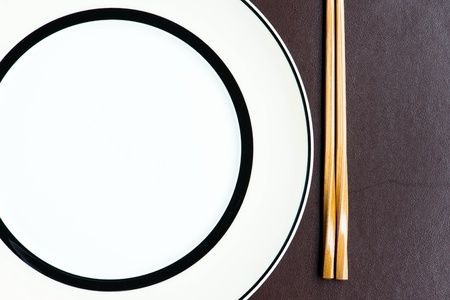 General dinner and lunch set with chop stick, can be use for various foods related concept design and background. Stock Photo - 16288858
