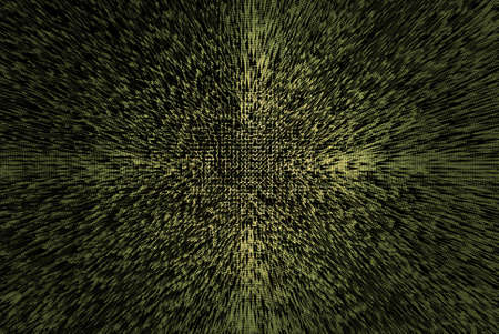 Abstract background pattern with random triangular shapes and circular radius in the center Stock Photo