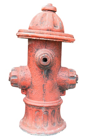 Rusty steel water pump outlet for fireman access, taken outdoor Stock Photo