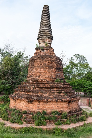 ayuttaya: The ancient city of Thailand with ancient architecture style Stock Photo