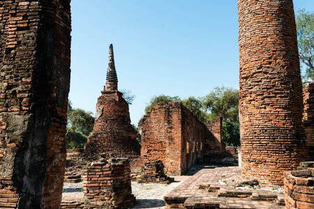 Temples of Thailand Ayutthaya historical park, useful for travel concepts