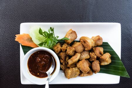 exotic food: Authentic  thai food taken outdoor in natural lights, useful for exotic food concepts