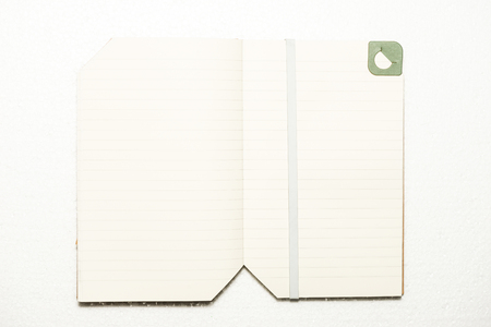 Note book on white background isolated, useful for business, education concepts