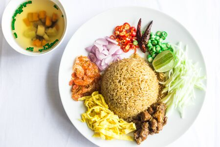 Authentic thai food taken outdoor in natural lights useful for exotic food concepts