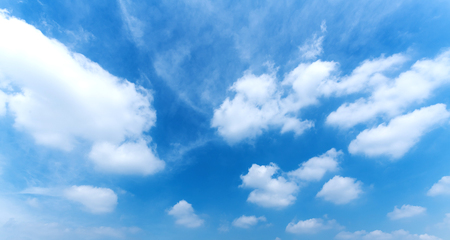 Blue sky and cloud scape. wide angle shot. Stock fotó
