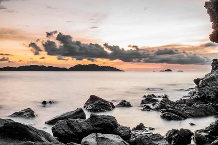 myst: lone exposure sunset view at Rayang island