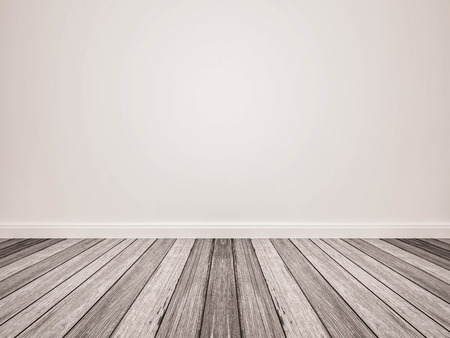 white wood floor: wood floor and white wall