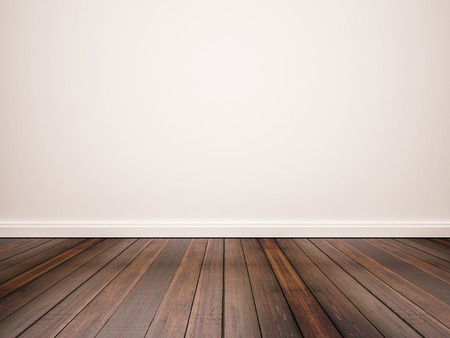 hardhouten vloer en witte muur