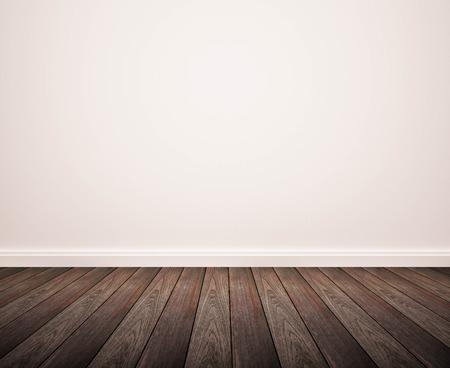 hardwood floor and white wall