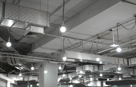 ventilation system in modern building