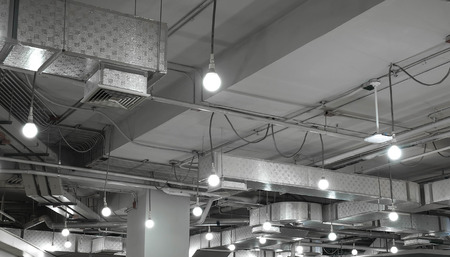 install: ventilation system in modern building