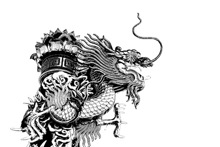 graphic: Abstract Chinese dragon graphic
