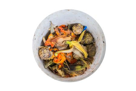 desechos organicos: Los residuos org�nicos de frutas en la basura