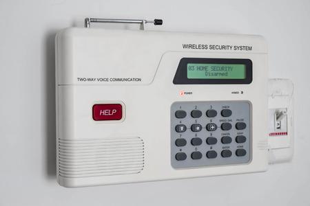 burglar: Home security system Stock Photo