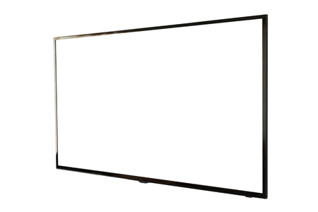 LED TV, wall installation, isolated on white background
