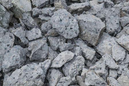 cement pile: Pile of broken concrete construction Stock Photo