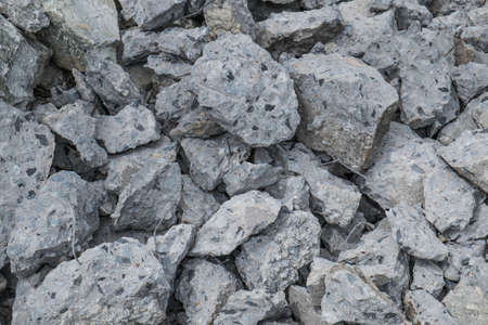 rupture: Pile of broken concrete construction Stock Photo